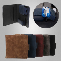 For Electronic Kit Luxury Leather Cards Case Box Holder Pouch Bag
