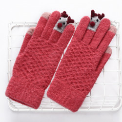 Knit Christmas Gloves Touch Screen Outdoor Glove