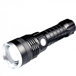 P50 4Modes Zoomable USB Rechargeable LED Flashlight Outdoor Waterproof 26650 Flashlight