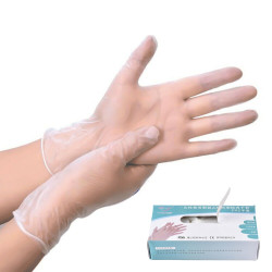 YUSO 100*Pcs Disposable PVC BBQ Gloves Waterproof Antibacterial Anti-virus Glove