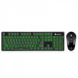 LANGTU LT600 Mechanical Keyboard & Mouse Set Rechargeable 2.4GHz Wireless 104 Keys Backlit USB Ergonomic Gaming Keyboard + 1600DPI Optical Gamer Mouse Combo