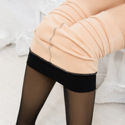 Plus Velvet Tights Thick Leggings Skin Penetration Stockings Sock
