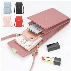 Women Lady Girls Leather Phone Bag Mini Shoulder Crossbody Bags Wallet Purse