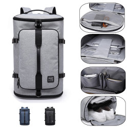 KAKA-2202 Men Travel Backpack 15.6inch Laptop Bag Shoulder Bag Climbing Camping Fitness Rucksack