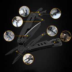 VOLKEN 11 in 1 Multifunctional Pliers Portable Outdoor Hikibg EDC Folding Knife Tool