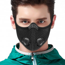 Breathable PM2.5 Dustproof Face Mask With Valves Anit-fog Bicycle Respirator Outdoor Sports 5 Layer Protective Mask