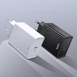 TOPK 18W PD QC3.0 Quick Charging Type C Charger EU Plug Adapter For Xiaomi Mi9 MacBook HUAWEI Mate 30 Pro G Note10+ 5G Pocophone F1