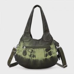 Women Gradient Soft Faux Leather Shoulder Bag Crossbody Bag Handbag