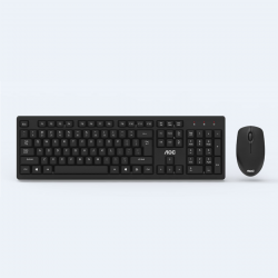 AOC KM210 Wireless Keyboard & Mouse Set 104 keys Waterproof Keyboard 2.4 GHz USB Receiver Mouse for Computer PC