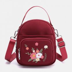 Women Fashion Embroidery Shoulder Bag Crossbody Bag