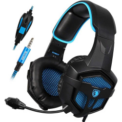 SADES SA-807 3 in 1  7.1 Cheanl Surround Sound 3.5mm Olug Cable Gaming Headphone with Mic for PC PS4 Phone
