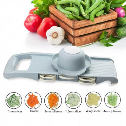 Multi-Function Vegetable Cutter with Steel Blade Mandoline Slicer Fruit Grater for Kitchen Cutting Tool