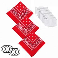 Multi-Purpose Seamless Cover Bandanas Scarf Neck Gaiter Filters Pad