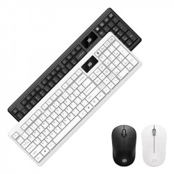 FD IK1600 2.4GHz Wireless Keyboard & Mouse Combo Set 104 Keys Silent Keyboard 1600DPI Mouse with USB Receiver for Computer Laptop PC