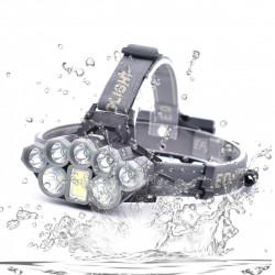 Xmund XD-HL4 T6+Q5 2000LM LED Waterproof Headlamp 18650 Battery USB Interface COB Flashlight Bike Cyclings