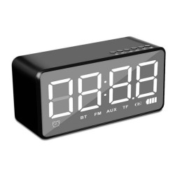 Bakeey Q31 bluetooth Wireless Speaker 3.5mm AUX Jack Mirror LED Digital Display FM Radio Speaker Alarm Clock Player