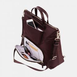 Women Casual Solid Nylon Multifunction Backpack Shoulder Bag