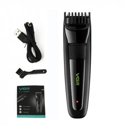 VGR Multifunction Hair Clipper USB Rechargeable Waterproof Professional Hair Clipper 2-14MM V-015