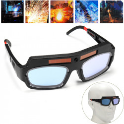 Solar Powered Auto Darkening Welding Mask Helmet Goggle Welders Glasses Arc PC Goggles For Welding Protection