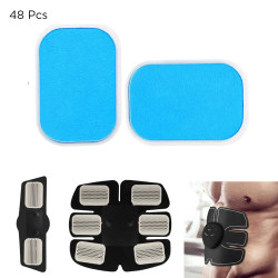 48PCS Gel Pads EMS Abdominal Muscle Trainer Stimulator Exerciser Pads Slimming Machine Accessories