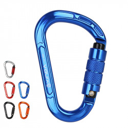 XINDA 8123TN Aluminum Alloy Carabiner Outdoor Climbing Hanging Buckle Hook Keychain