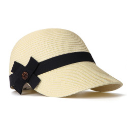 Woman Straw Hat Visor Riding Breathable UV Protection Cap