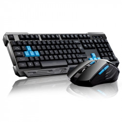2.4GHz Wireless Keyboard & Mouse Combo Set WAterproof Auto Sleep Keyboard for Desktop PC Laptop Notebook