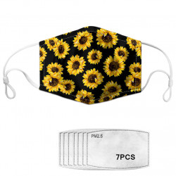 Dasiy Flower Print Face Mask 7-piece Gasket Set Daisy PM2.5 Masks