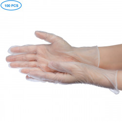 100*Pcs Disposable PVC Nitrile Rubber PVC BBQ Safety Gloves Waterproof Antibacterial Anti-virus Glove 3