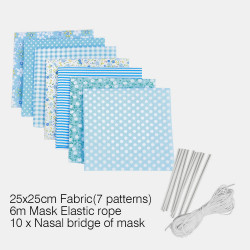 DIY Mask Creative Household Mask DIY Cloth Mask 25*25cm