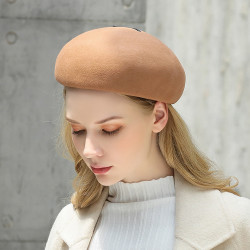 Pure Wool British Style Chain Beret Caps