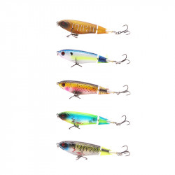 ZANLURE 5PCS 10.5cm 17g 3D Eye Fishing Lure with 2 Hooks Big Fishing Bait Set Fishing Tackle