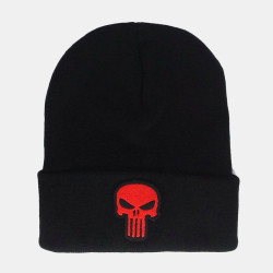 Unisex Skull Embroidered Casual Wild Knit Hat Wild Hat Hip-hop Beanie Hat