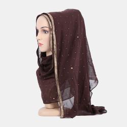 Hijab Scarf Chiffon Beaded Long Scarves