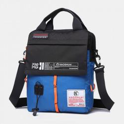 Men Fashion Multi-color Waterproof Handbag Shoulder Bag Crossbody Bag For Outdoor Travel
