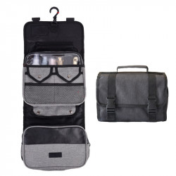 Large Size Waterproof Wash Bag Travel Portable Folding Hanging Makeup Storage Bag 300D Cation