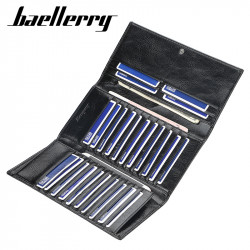 Baellerry Men Faux Leather Long Wallet Card Holder Zipper Phone Bag Clutches Bag