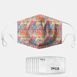 Printed Ethnic Dust Mask PM2.5 7-piece Gasket Masks