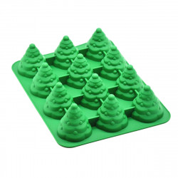 12 Holes 3D Christmas Tree Cake Mold Mousses Silicone Mould Cake Pan Tin Tray Baking Tool