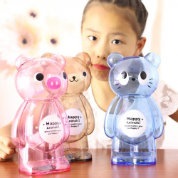 Transparent Cartoon Piggy Bank Coin Piggy Bank Change Box Creative Cute Children Drop Boy Female Brand New Plastic