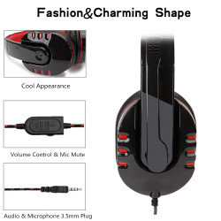 2019 Gaming Headset Laptop Mic Headphones Switch Ps4 Xbox