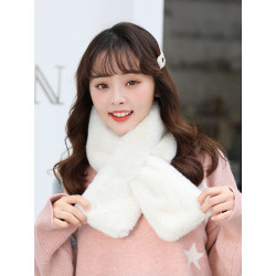 Women Winter Fashion Fur Warm Scarf  Hat Gloves