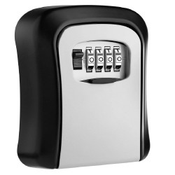 Key Lock Box Wall Mounted Alloy Key  Safe Box Weatherproof 4