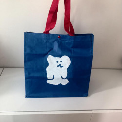 Korea Genuine Dinotaeng Blue Bear Waterproof Shopping Bag Eco Bag Class Bag Shopping  Bag