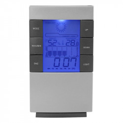 Lcd Digital Weather  Station Clock Temperature Humidity Meter