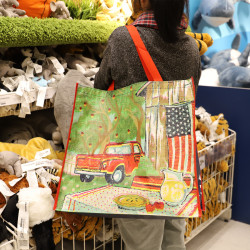 Shopping  Bag ~ Export Us Single Large Environmental Protection Light Woven Shopping Bag / Clothing Bag