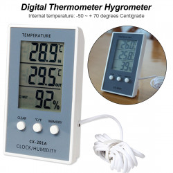 Lcd Digital Weather  Station Thermometer Hygrometer In / Out Te