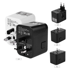 All In One Plug Adapter  Travel Charger Adapter For Us Uk Eu
