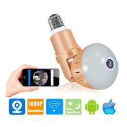 Cctv Wireless Led Bulb Camera 1080P Wifi Baby Monitor V380