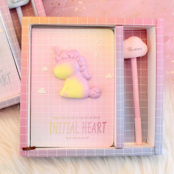 Unicorn Notebook Ins Girl Heart Hand Books Stationery  Set
